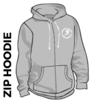 Roberttown Road Runners Youth Zipped Grey Hoodie